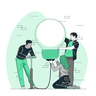 Illustrazione di concetto di squadra creativa