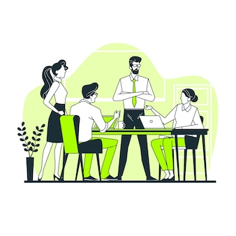 Illustrazione di concetto di squadra