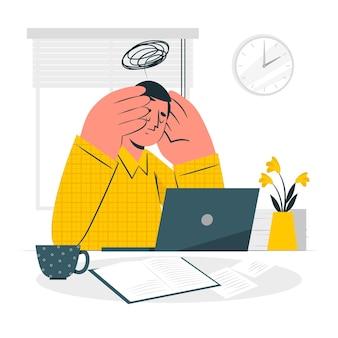 Illustrazione di concetto di stress