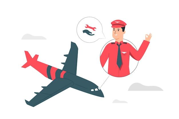Illustrazione di concetto di supporto aereo