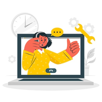 Illustrazione di concetto di supporto attivo