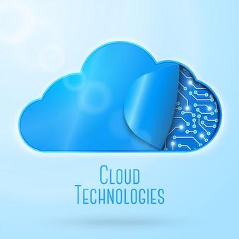Illustrazione di concetto di tecnologia di computazione della nuvola