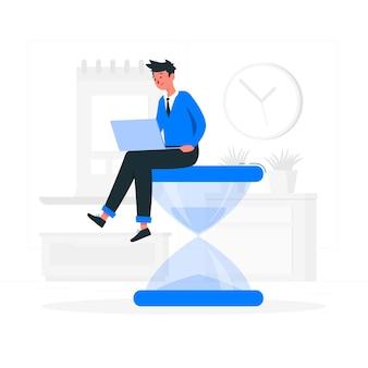 Illustrazione di concetto di tempo di lavoro