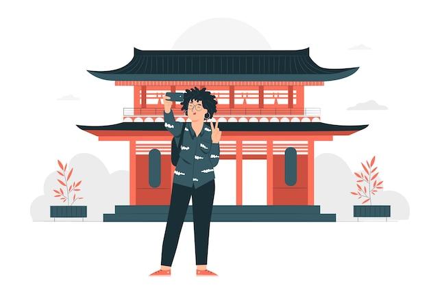 Illustrazione di concetto di tokyo