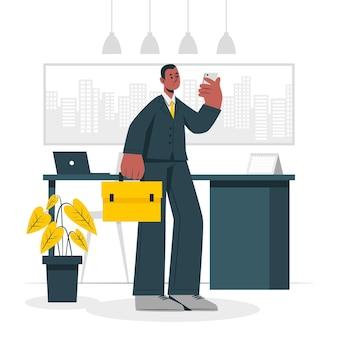 Illustrazione di concetto di uomo d'affari