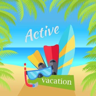 Illustrazione di concetto di vacanze estive