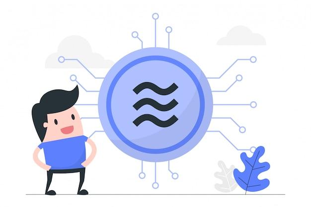 Illustrazione di concetto di valuta digitale.
