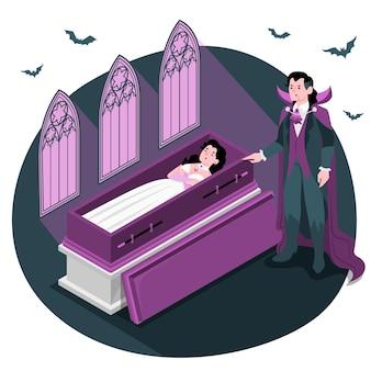 Illustrazione di concetto di vampiri