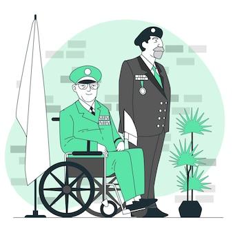 Illustrazione di concetto di veterani