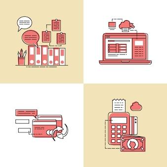 Illustrazione di concetto di vettore di transazione commerciale