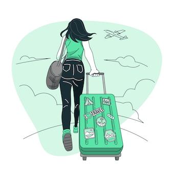 Illustrazione di concetto di viaggio