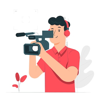 Illustrazione di concetto di videografo