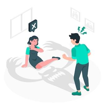 Illustrazione di concetto di violenza di genere