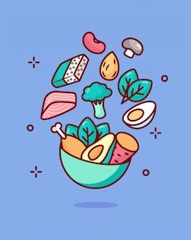 Illustrazione di concetto di vitamina b1