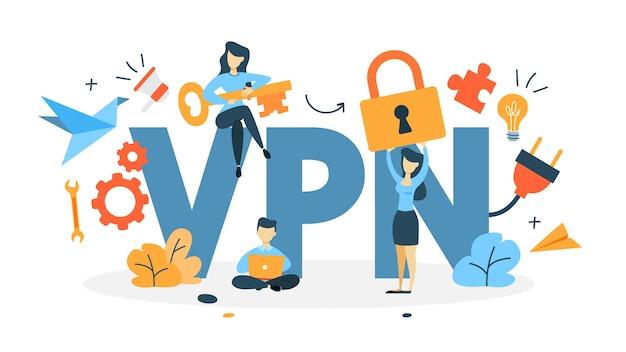 Illustrazione di concetto di vpn