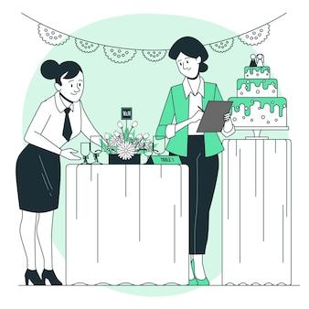 Illustrazione di concetto di wedding planner