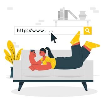 Illustrazione di concetto di www