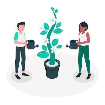Illustrazione di concetto in crescita