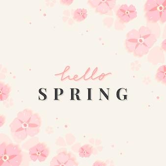 Illustrazione di confine floreale di primavera