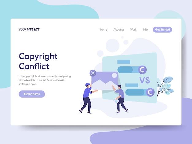 Illustrazione di conflitto di copyright