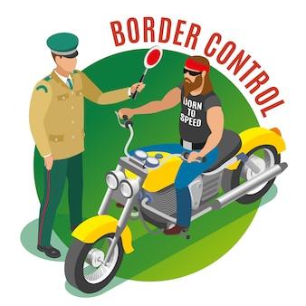 Illustrazione di controllo di frontiera