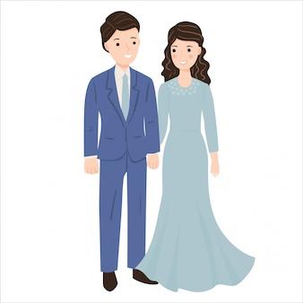 Illustrazione di coppia romantica carina