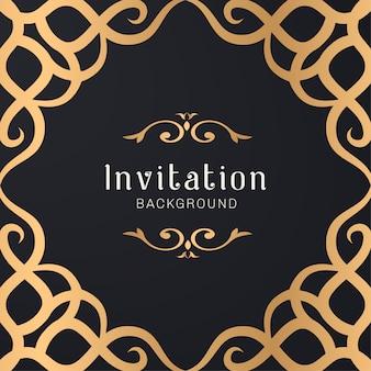 Illustrazione di cornice decorativa ornamentale oro