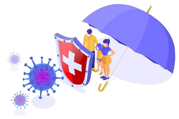 Illustrazione di coronavirus