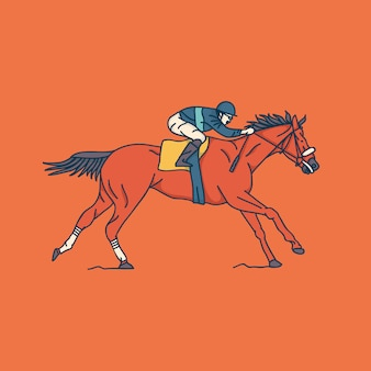 Illustrazione di corse di cavalli