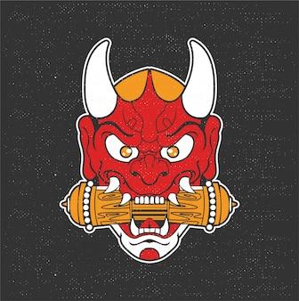 Illustrazione di demone giapponese