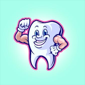 Illustrazione di denti sani