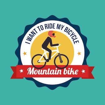 Illustrazione di design bici verde