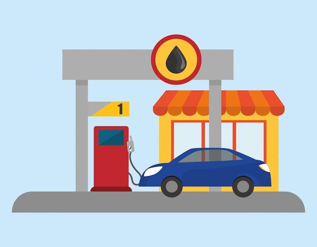 Illustrazione di design del garage