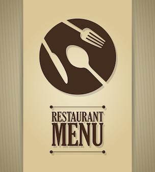 Illustrazione di design del ristorante