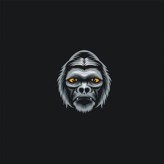 Illustrazione di design della testa di gorilla