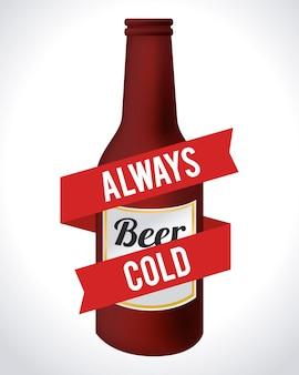 Illustrazione di design di birra