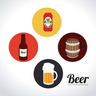 Illustrazione di design di birra