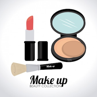 Illustrazione di design di cosmetici