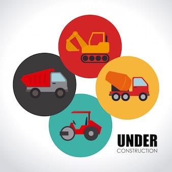 Illustrazione di design di costruzione