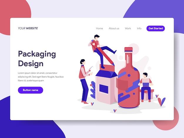 Illustrazione di design di imballaggio
