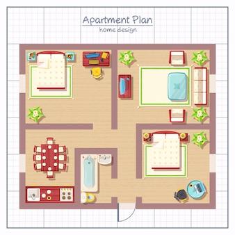 Illustrazione di design per la casa