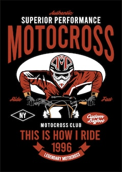 Illustrazione di design super motocross