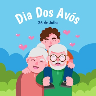 Illustrazione di dia dos avós