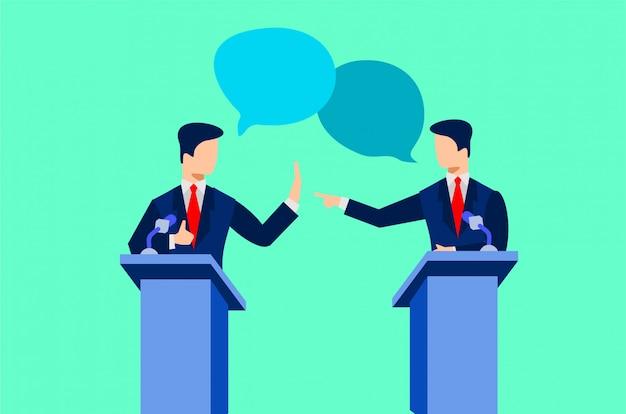 Illustrazione di dibattiti politici