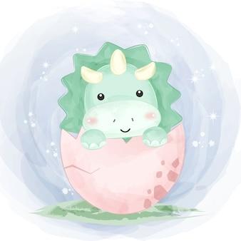 Illustrazione di dinosauro carino