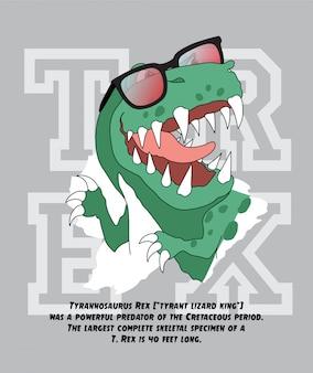Illustrazione di dinosauro disegnato a mano