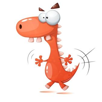 Illustrazione di dinosauro pazzo.