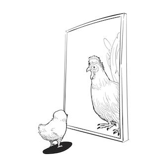 Illustrazione di disegno a mano del concetto di sviluppo