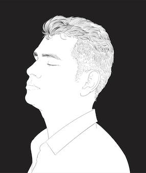 Illustrazione di disegno a mano del viso umano