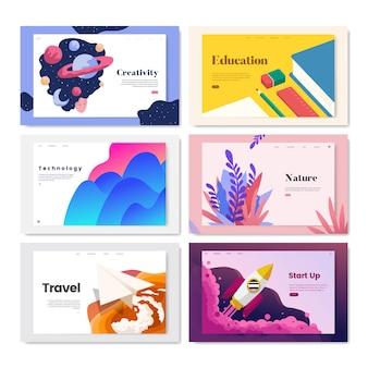 Illustrazione di disegno del modello colorato flyer